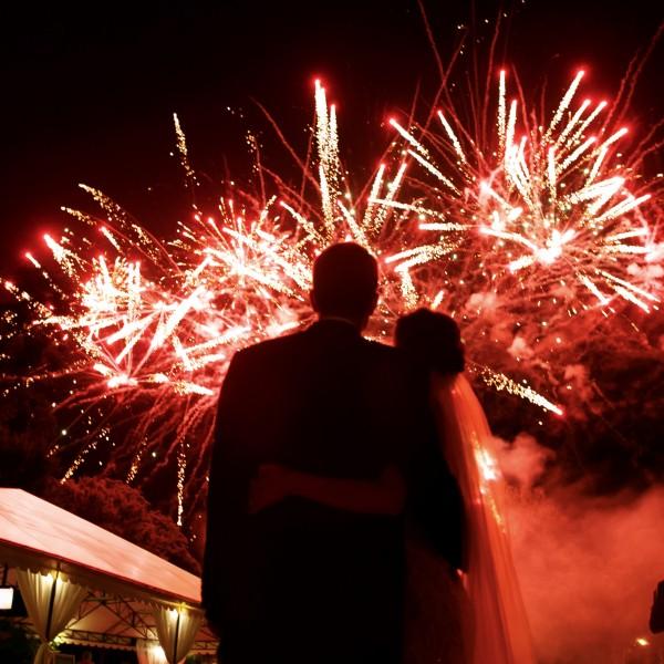 Foto: Hochzeitsfeuerwerk