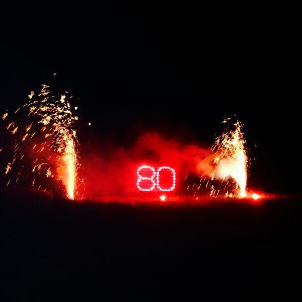 Foto: Partyfeuerwerk: Lichterschrift